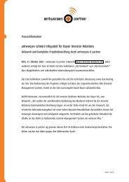 antwerpes schnürt Infopaket für Bayer Investor ... - DocCheck AG