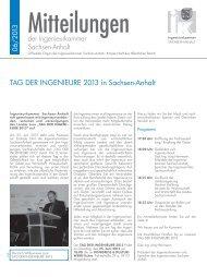 TAG DER INGENIEURE 2013 in Sachsen Anhalt - Fachverlag ...