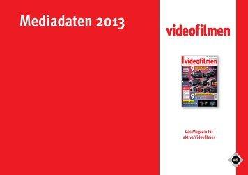 Mediadaten 2013 - Videofilmen