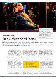 Das Gesicht des Films - Fachverlag Schiele & Schön