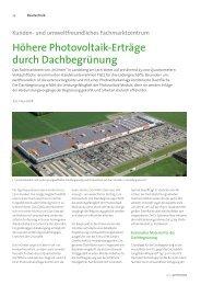 Höhere Photovoltaik-Erträge durch Dachbegrünung