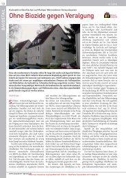 Ohne Biozide gegen Veralgung - Fachverlag Schiele & Schön