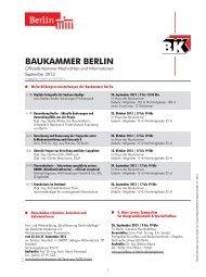 BAUKAMMER BERLIN - Fachverlag Schiele & Schön