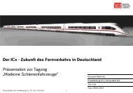Der ICx - Schienenfahrzeugtagung Graz