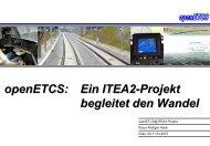 openETCS Graz 2013 - Schienenfahrzeugtagung Graz