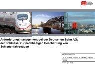 Anforderungen - Schienenfahrzeugtagung Graz