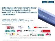 Rollkontaktermüdung - Schienenfahrzeugtagung Graz