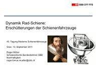 R.Müller, M.Hafner, P.Balmer - Schienenfahrzeugtagung Graz