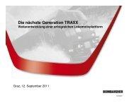 Die nächste Generation TRAXX - Schienenfahrzeugtagung Graz