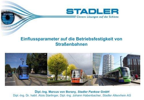 1. Straßen- und Stadtbahnfahrzeuge von Stadler Rail