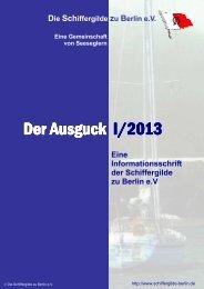 Ausgabe 1/2013 - Schiffergilde zu Berlin