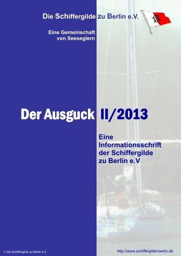 Ausgabe 2/2013 - Schiffergilde zu Berlin