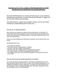 Interview mit Dr. Karl J. Eggers, Marketingberater der ... - Schifferstadt