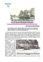 150 Jahre Elbing-Oberländischer Kanal I