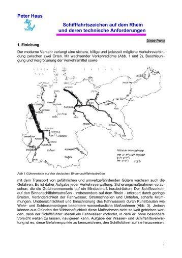Peter Haas Schifffahrtszeichen auf dem Rhein und deren technische ...