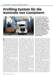 Profiling-System für die Kontrolle von Containern - Schiff & Hafen