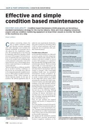 Effective and simple condition based maintenance - Schiff & Hafen