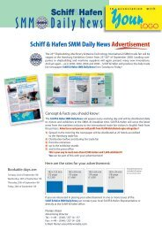 Schiff & Hafen SMM Daily News Advertisement