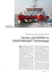 Service mit Schiffen in SWATH@A&R®-Technologie - Schiff & Hafen