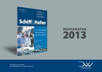 Mediadaten 2013 als pdf - Schiff & Hafen