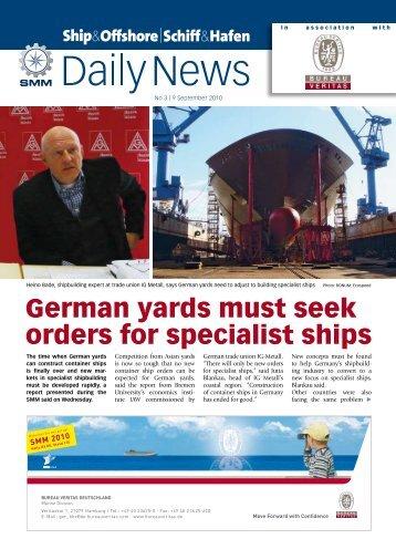 German yards must seek orders for specialist ships - Schiff & Hafen