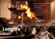 Cleaning & care for your leather Reinigung & Pflege ... - W.SCHILLIG