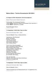 Markus Stenz – Termine Konzertsaison 2013/2014 - Schimmer PR