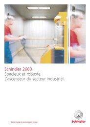 Schindler 2600 Spacieux et robuste. L'ascenseur ... - Schindler Group