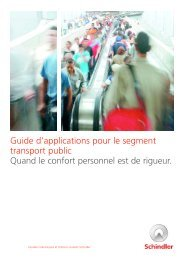 Guide d'applications pour le segment transport ... - Schindler Group