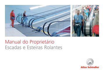 Manual do Proprietário Escadas e Esteiras Rolantes