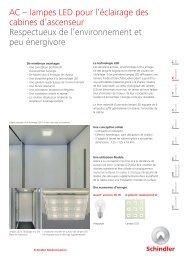 AC – lampes LED pour l'éclairage des cabines d'ascenseur ...