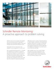 Schindler Remote Monitoring™ A proactive approach to problem ...