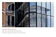 Schindler Modernización Para dar nueva vida a su ascensor ...