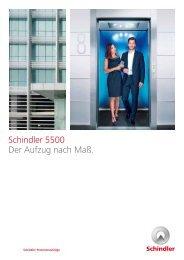 Schindler 5500 Der Aufzug nach Maß.