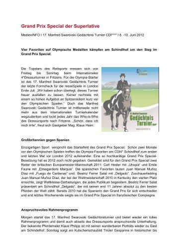 Grand Prix Special der Superlative - Schindlhof