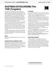 EASTMAN EKTACHROME Film 7240 (Tungsten) - Kodak