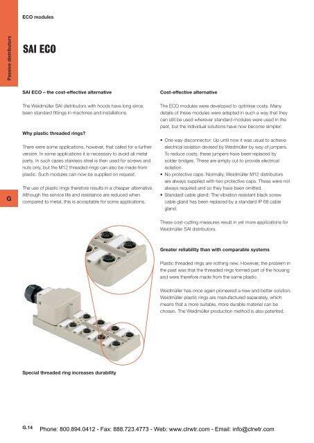 Weidmuller SAI ECO Passive Distributor Modules