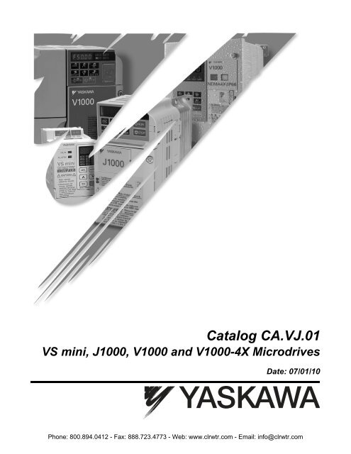 Yaskawa VS mini, J1000, V1000 & V1000-4X - Clearwater