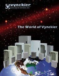 GE / Vynckier Enclosure Catalog - Clearwater Technologies, Inc.