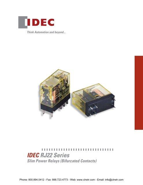 rj22 wiring diagram idec rj22 series bifurcated contacts slim power relays  bifurcated contacts slim power relays