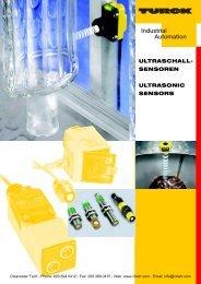 TURCK Ultrasonic Sensor Catalog