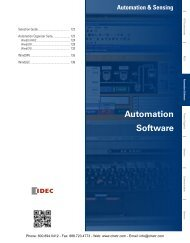 IDEC Automation Software Catalog