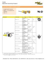 TURCK minifast Cordsets & Cables - Clearwater Technologies, Inc.