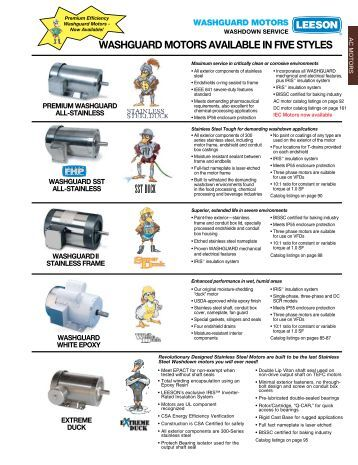 07 stock motor catalog farm duty motors weg for Lincoln electric motors catalog