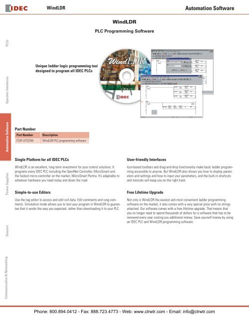 IDEC WindLDR PLC Ladder Logic Programming Software