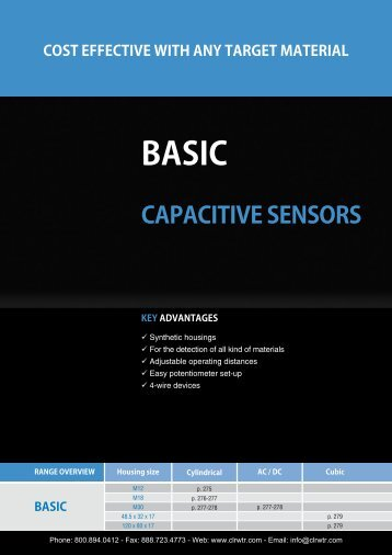 CONTRINEX Basic Capacitive Sensors