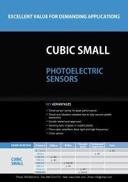 CONTRINEX Cubic Small Photoelectric Sensors