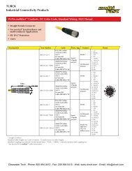 TURCK multifast Cordsets & Cables - Clearwater Technologies, Inc.