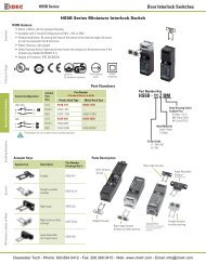 IDEC HS5B Series Miniature Interlock Switches