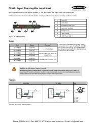 Banner DF-G1 Expert Fiber Amplifier Install Sheet